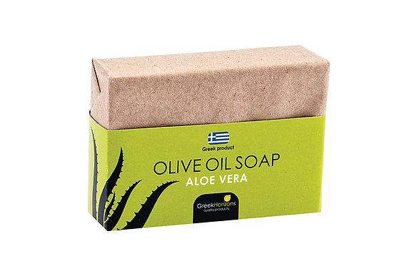 Eco paper olive oil soap aloe vera 100g