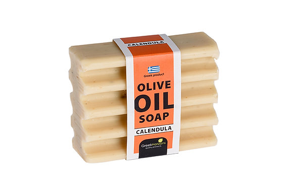 Striped olive oil soap calendula 100g