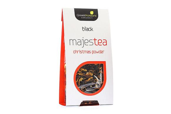 Μαύρο τσάι Majestea Christmas powder 60γρ