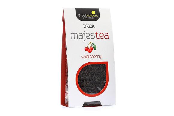 Μαύρο τσάι Majestea Άγριο κεράσι 40γρ
