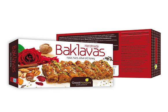 Μπακλαβάς με τριαντάφυλλο, ξηρούς καρπούς & μέλι 240γρ