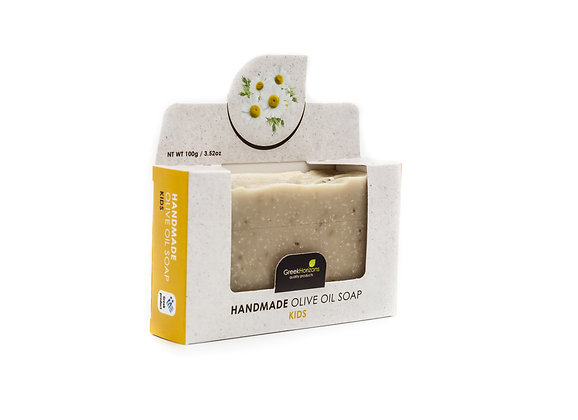 Handmade olive oil soap Chamomile (for kids) 100g