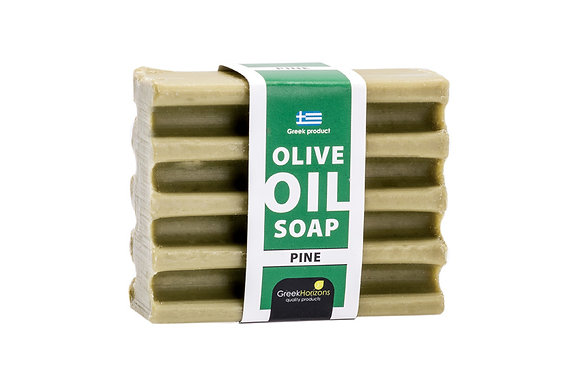 Striped olive oil soap pine 100g