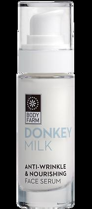 Anti-wrinkle & nourishing face serum Donkey milk Body farm 30ml
