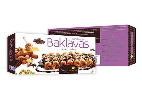 Μπακλαβάς με σοκολάτα, ξηρούς καρπούς & μέλι 240γρ