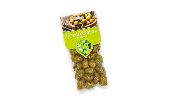 Green olives with oregano 100g