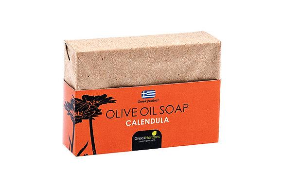 Eco paper olive oil soap calendula 100g