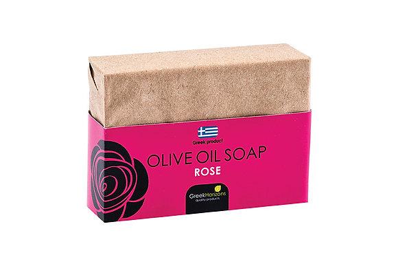 Σαπούνι ελαιολάδου οικολογικό χαρτί τριαντάφυλλο 100γρ