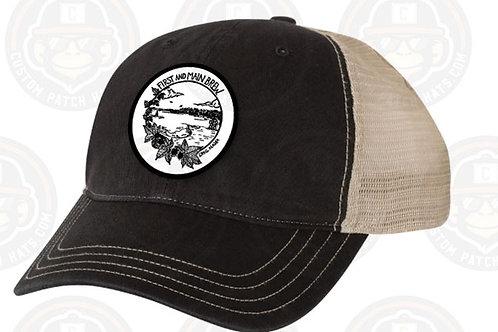 Black and Khaki Logo Hat