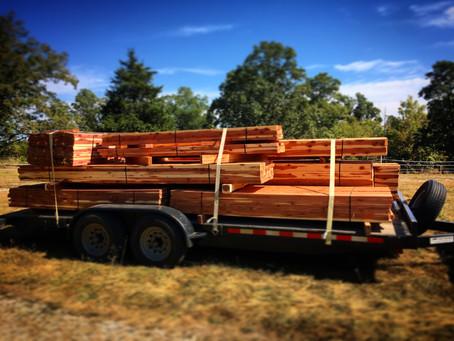 Materials: Cedar Barn
