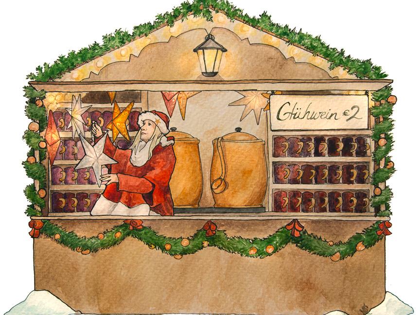 Glühwein stand Christmas Market