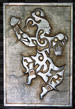 Lord Shiva. Metal embossing