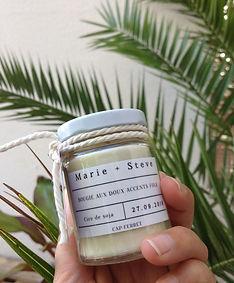 bougie, candle original wedding gift