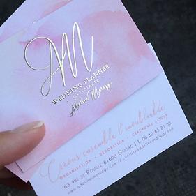 dorure à chaud wedding planner business card