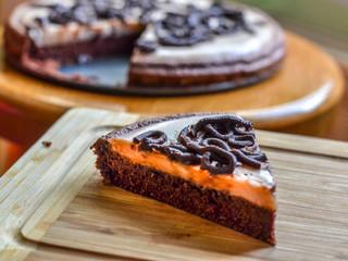 Čokoládovo-pudingová tortička