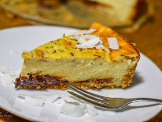 Ovsená pudingovo - tvarohová torta s čokoládou