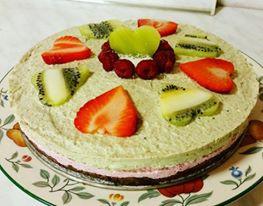 Fit nepečený cheesecake