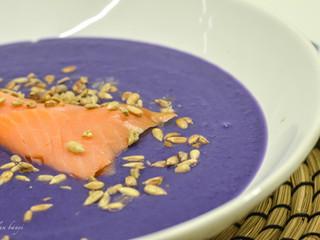 Fialovákrémová polievka