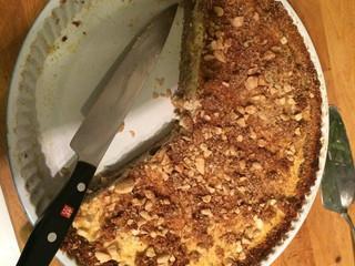 Jabľkovo-tvarohový koláč