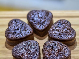 Čokoládové srdiečká z fazuľe