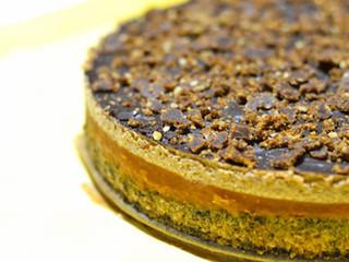 Broskyňovo-orechová torta s karamelom pre dospelých :)