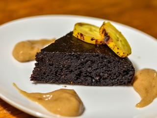 Brownie z kešu orieškov sbanánovo-škoricovým krémom