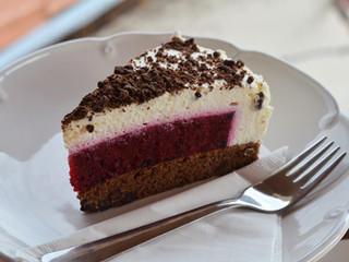 Ostružinovo-čokoládový cheesecake