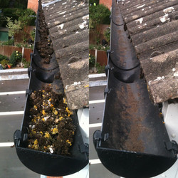 Gutter Clean - Before & After