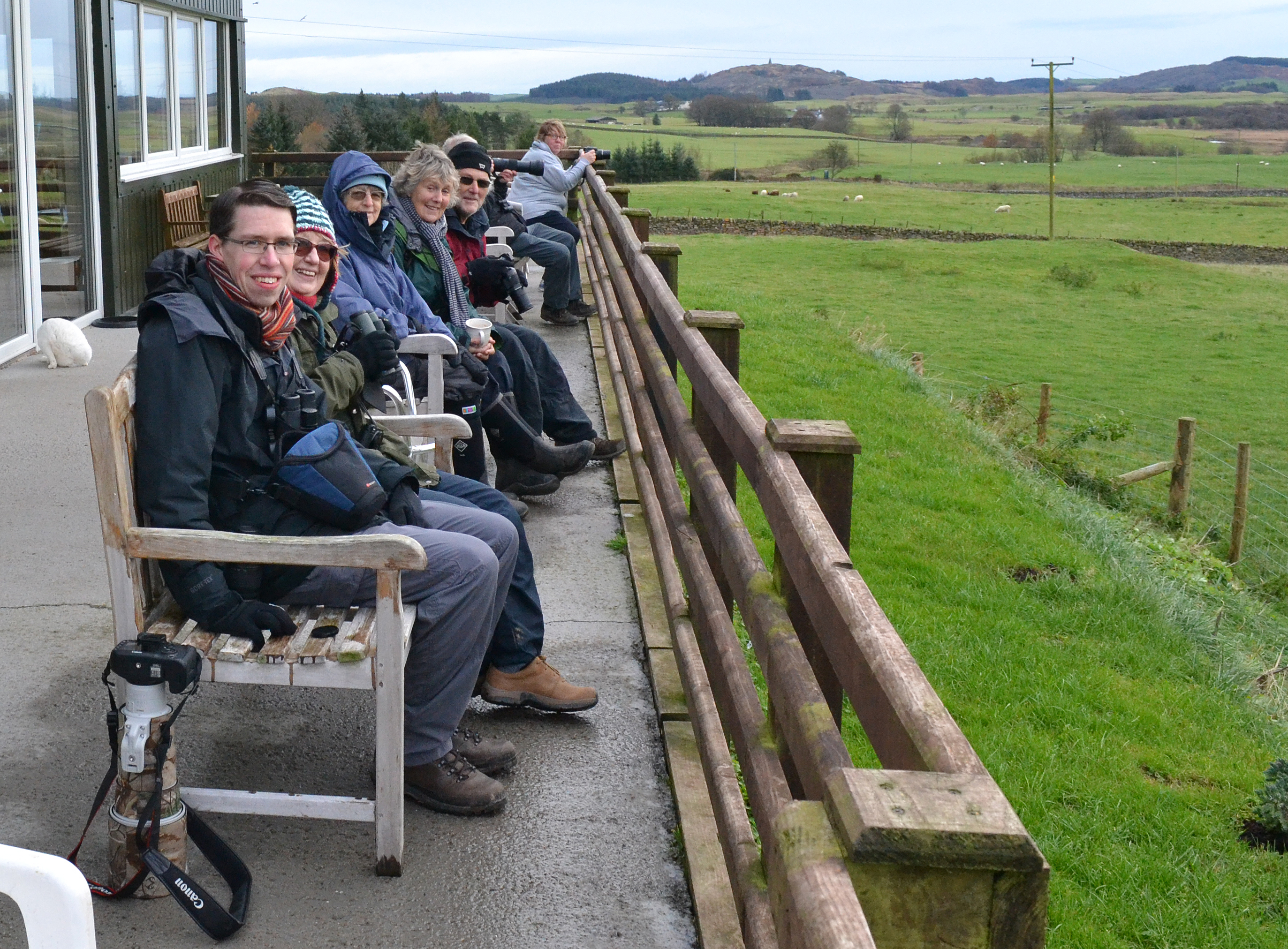 Members at Red Kite Feeding Station