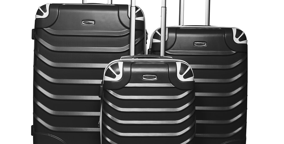 The Aspire Collection 3 Piece Expandable Hardside Spinner Luggage Set