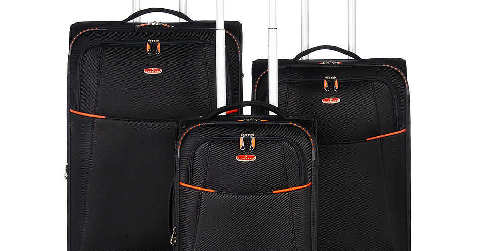 The Manchester Collection Expandable Softside 3 Piece Spinner Luggage Set