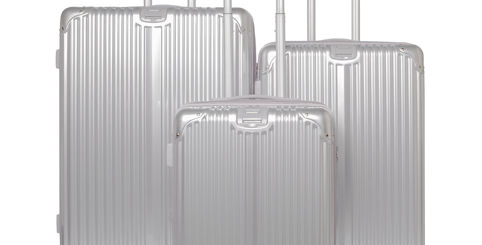 The Macan Collection Expandable Hardside 3 Piece Luggage Set