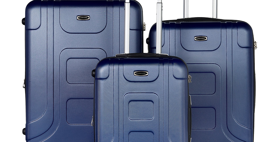 The Luca Collection 3 Piece Expandable Hardside Spinner Luggage Set