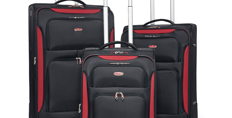 The Glasgow Collection Expandable Softside Spinner Luggage Set