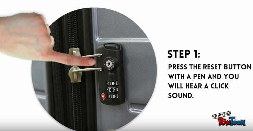 How to unlock a TSA Lock