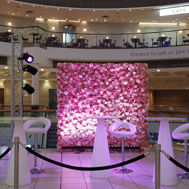 Pink Delight Flower Wall