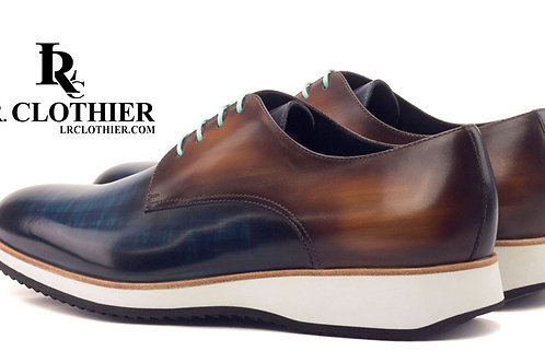 DERBY LACE UP PATINA COLOR FINISH