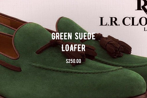 GREEN SUEDE LOAFER