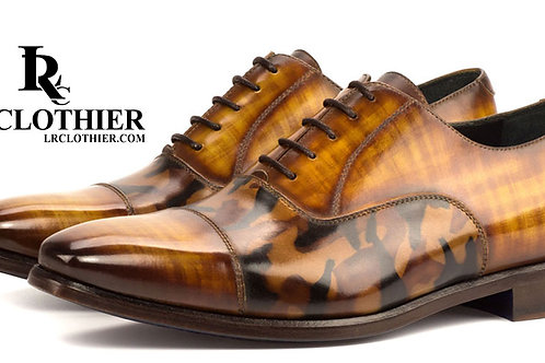 LEATHER OXFORD In PATINA & CAMO