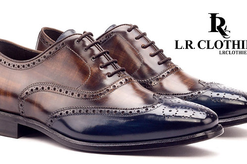 LACE UP BROGUE w/ PATINA FINISH
