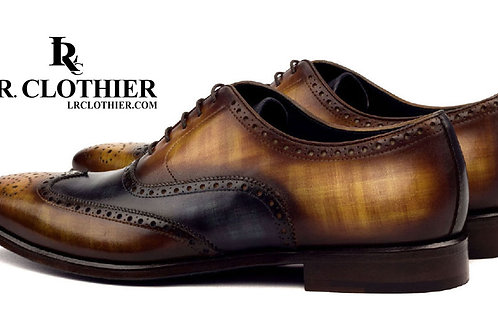 PATINA COGNAC & BLUE BROGUE