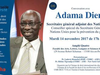 Conversation avec Adama Dieng - Secrétaire général adjoint des Nations Unies -   14 novembre 2017
