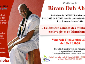 Conversation avec Biram Dah Abeib - Président IRA Mauritanie - 17 novembre 2017