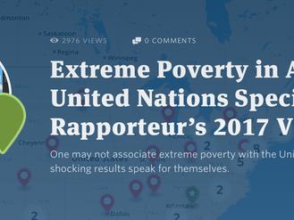Carte interactive du Rapport sur l'extrême pauvreté aux États-Unis de Philip Alston réalisée par