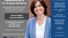 "Conférence de la Prof. Gráinne de Búrca - ""Human Rights Experimentalism"" - vendredi 20 avr"