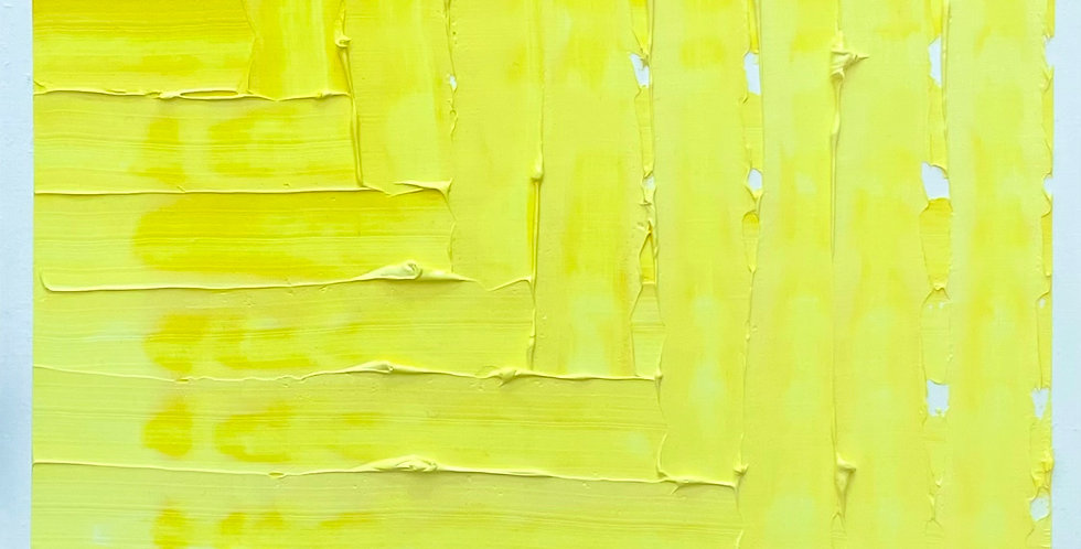 Deep Weave Yellow | 11.25x11.25in | Unframed Oil Painting