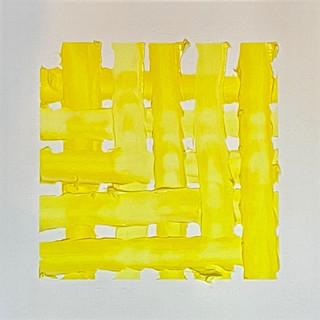 "Woven   Yellow, 12""x12"""