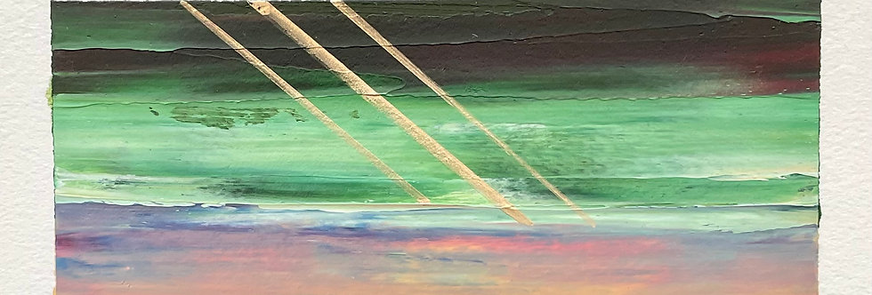 Sunrise Glimmers    3.5x7.5in   Unframed Oil Painting