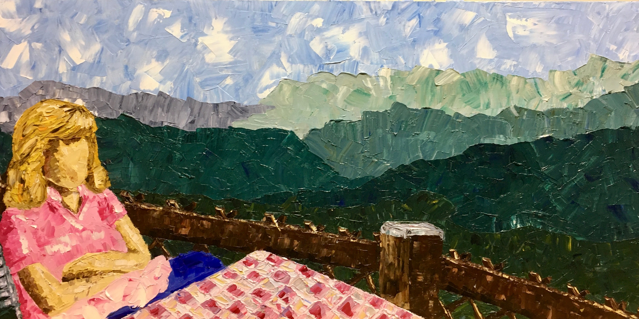 "European Overlook, 15""x30"""
