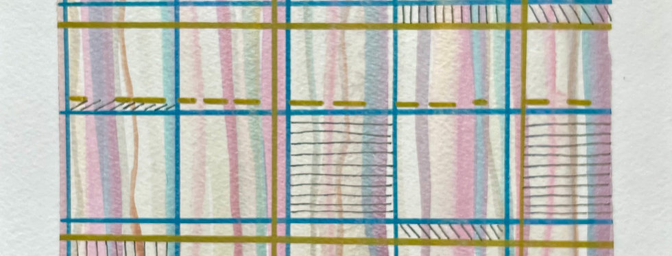 Metallic Horizons | 6x8in | Unframed Mixed Media Painting